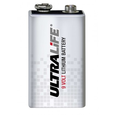 An image of Ultralife Lithium 9V battery (1200 mAh) (10 year battery)