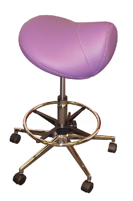 An image of Pro-Seat Saddle Lavender with Foot Ring