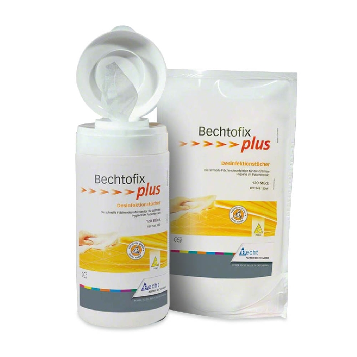 An image of Bechtofix Plus Disinfecting Wipes Tub (100 pk Lemon Scent) Alcohol