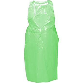 """An image of Flat Pack Green Apron Size :  27"""" x 58""""  50 micron ( 50)"""