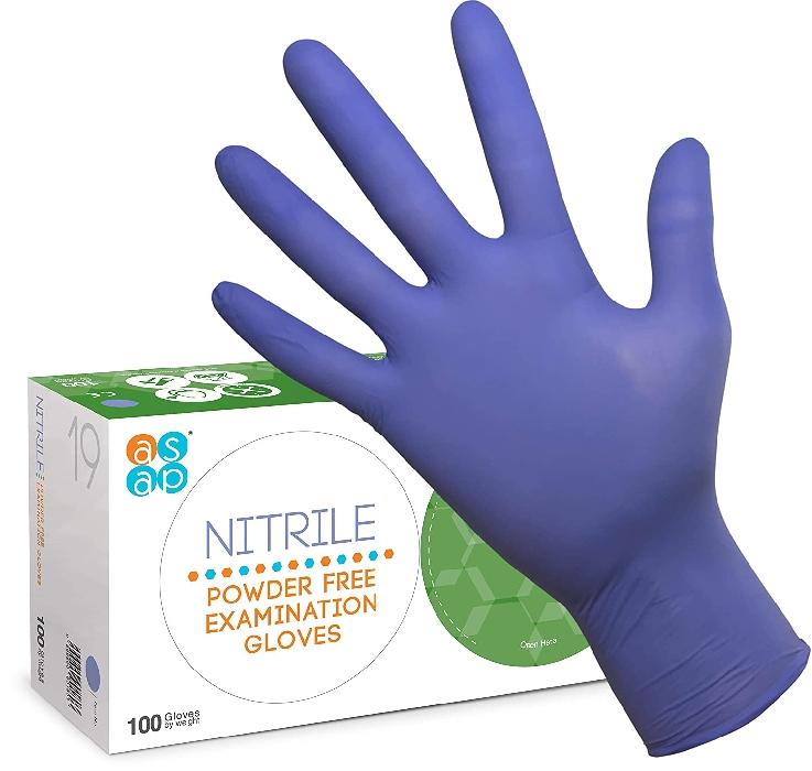 Violet Blue Nitrile Gloves (100) Small