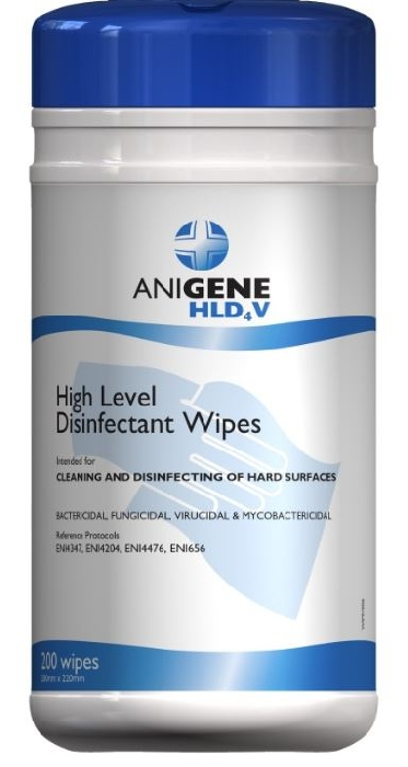 An image of Anigene HLD4V Surface Disinfectant Wipes (200)