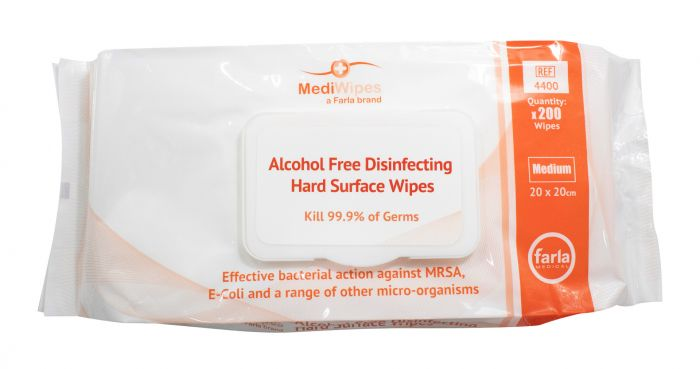 An image of Mediwipes Alcohol Free Wipes