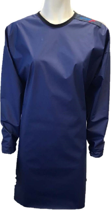 An image of Protective Reusable Navy Isolation Gown (5) -Medium