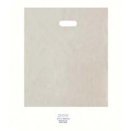 An image of Plain Plastic Patch Handle Carrier Bag (500)