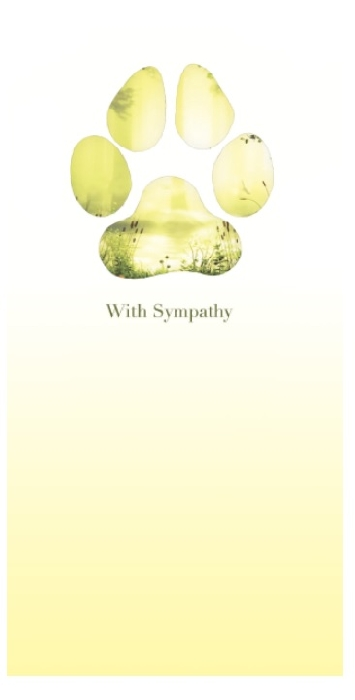 An image of Meadow Paw Sympathy Cards With Seeds (25)