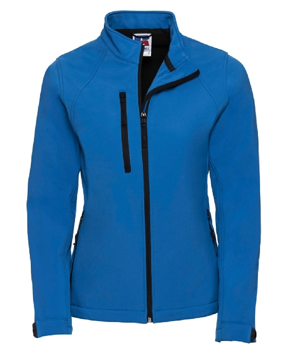 An image of Ladies Soft Shell Jacket Blue X-Small