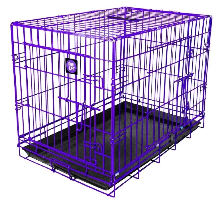 An image of Metal Pet Crate (Medium Purple)