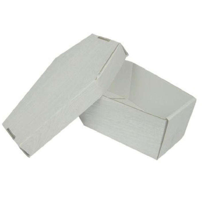 An image of Burial Package Basic White Wood
