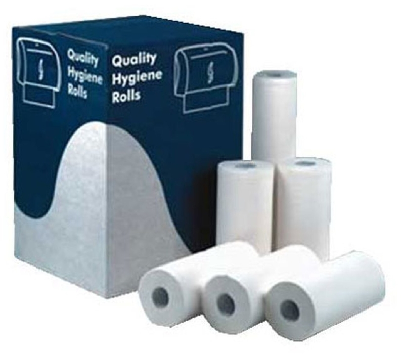 """An image of 10"""" Wiper paper rolls x 18 (1 ply)"""