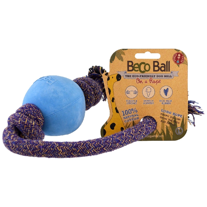 An image of Beco Ball On a Rope Large Blue