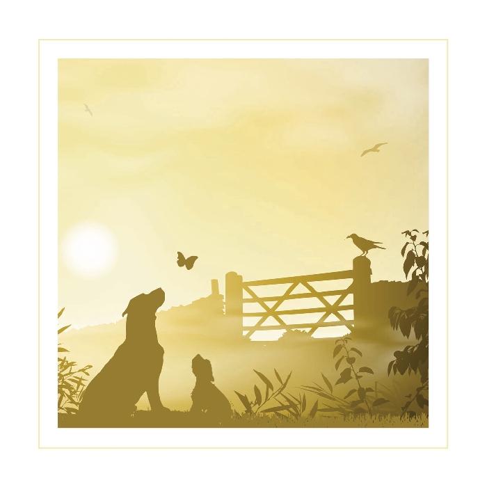 An image of Dog Gateway Sympathy Cards (25)