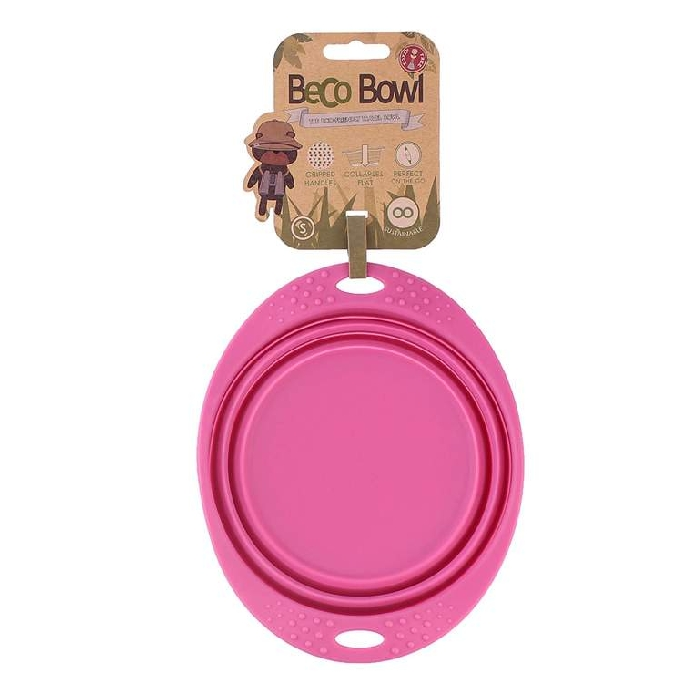 An image of Beco Travel Bowl Pink