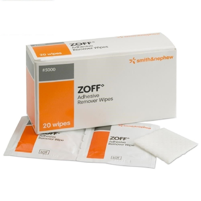 An image of Zoff Wipes Dressing Adhesive Remover