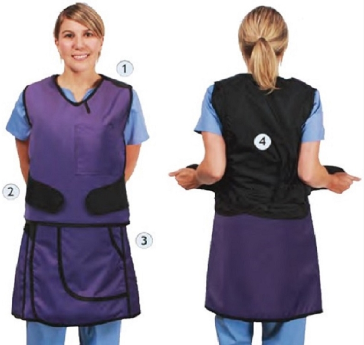 An image of Pro PK 2 Piece Wrapover Style Apron Full Fontal