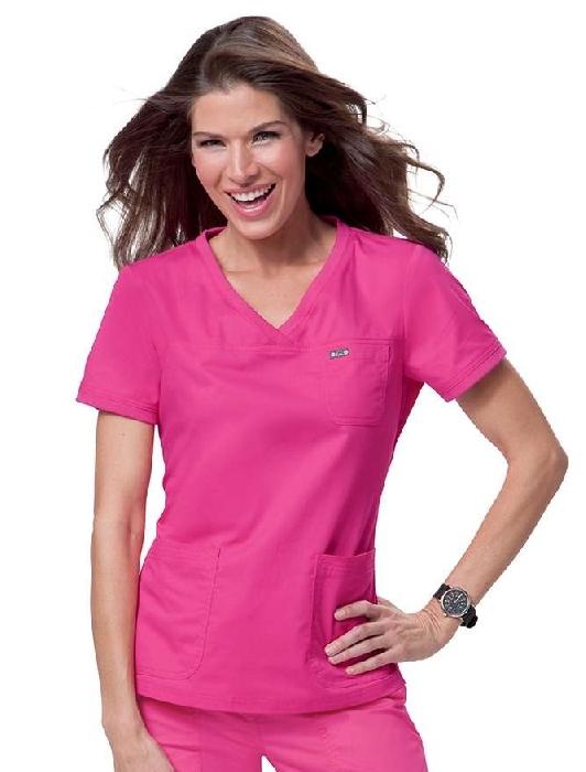 An image of Koi Comfort Nicole Top Flamingo Pink Medium