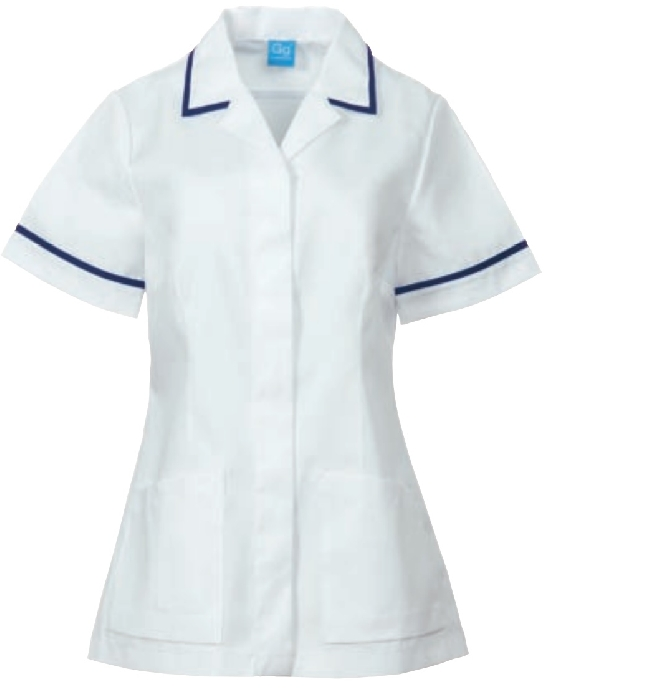 An image of TUNIC WHITE & NAVY 30