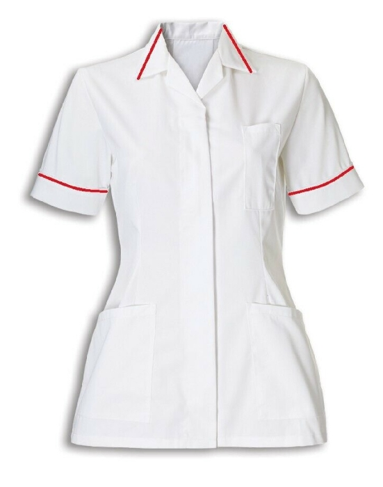 An image of TUNIC WHITE & RED SIZE 30 CARDIOLOGY