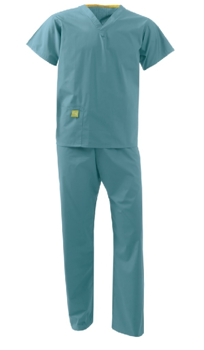 An image of UNISEX REVERSIBLE SCRUB SUIT MID-GREEN XS