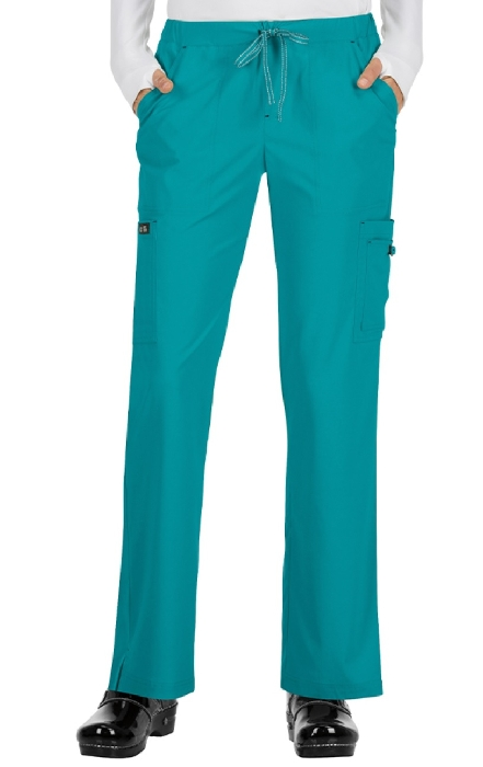 An image of koi holly Trousers Teal Large (Tall)