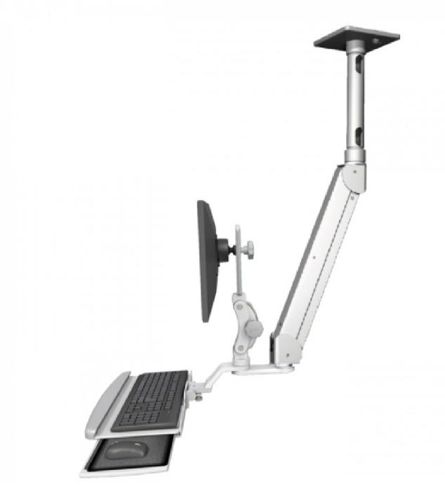 An image of Elite Single Monitor Arm & Keyboard Ceiling Mount