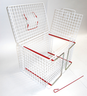 An image of Cat Basket/crush cage. Extra Strong. End Opening Restrainer.