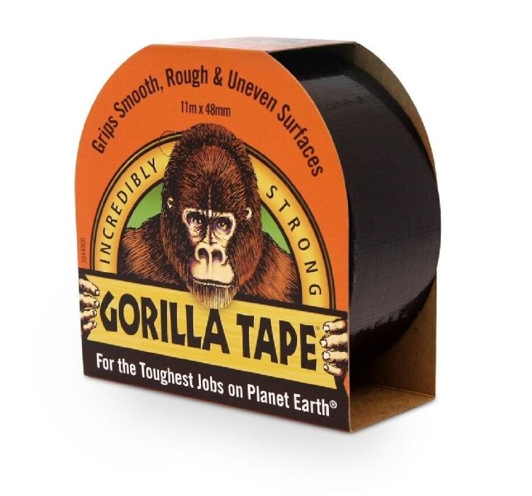 An image of Gorilla Tape Black 11 metres