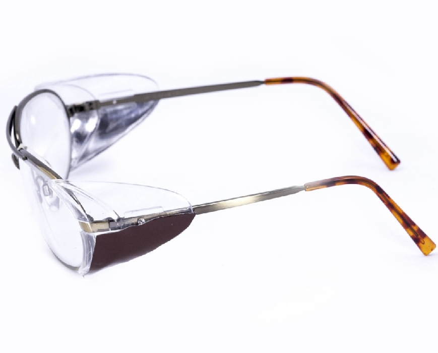An image of Model 662S Gold Metalite Glasses with side shields