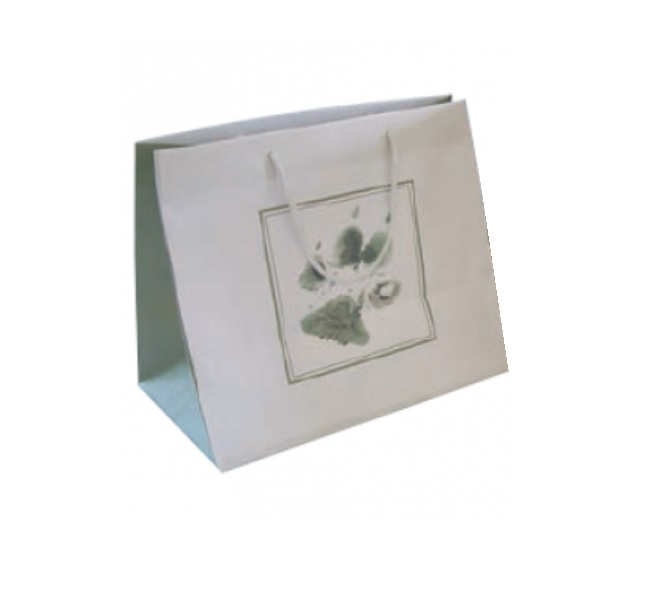 An image of Pet Casket Bag Deluxe White (10)