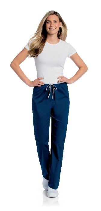 An image of UNISEX CARGO TROUSERS (LANDAU) Navy R Small (29/31)