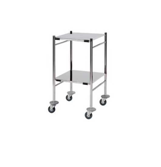 An image of Surgical Trolley with 2 s/s Trays 46 x 52 x 86 cm