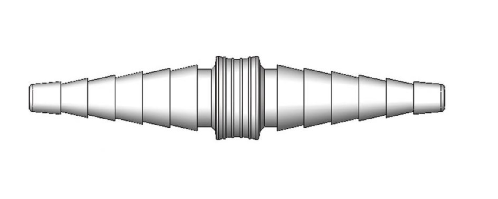 An image of Double Cone Straight Connector and Adaptor (4-7mm/7-10mm) (30)
