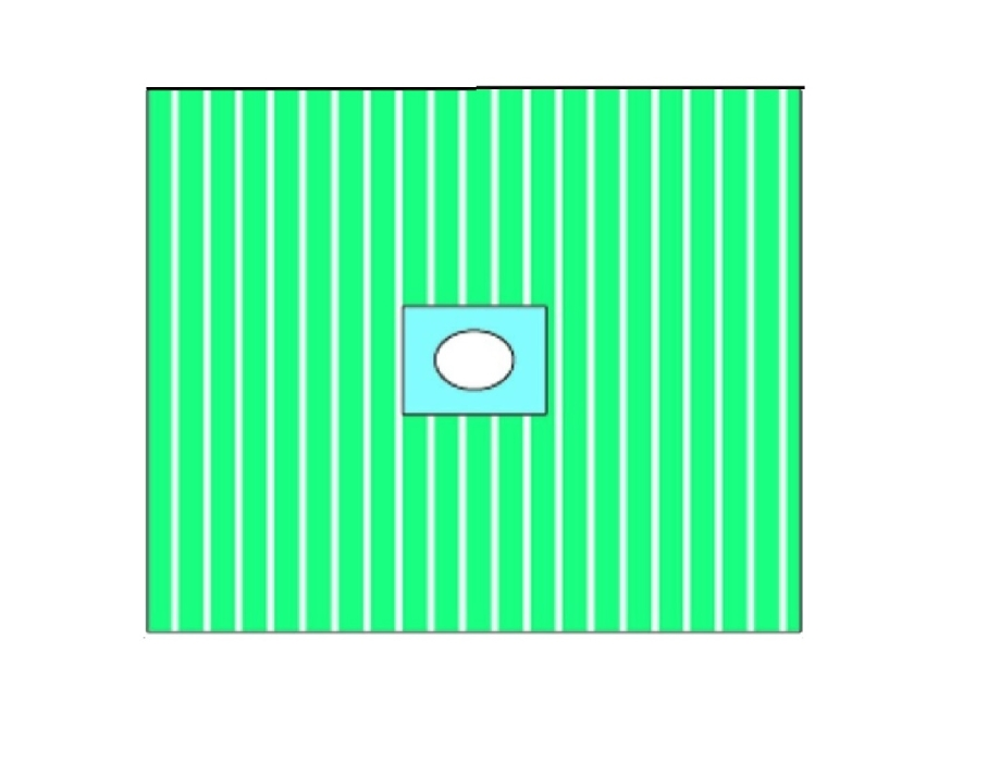 An image of Centered Adhesive Fenestrated Drape 38cm x 45cm - Window 6cm (110)