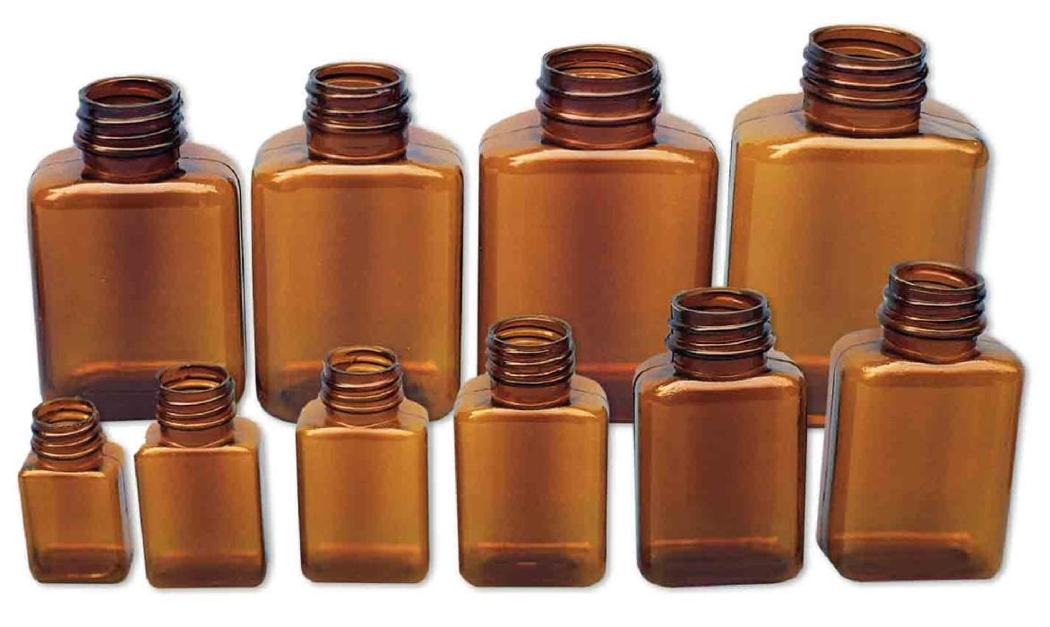 An image of Amber Plastic Tablet Bottles