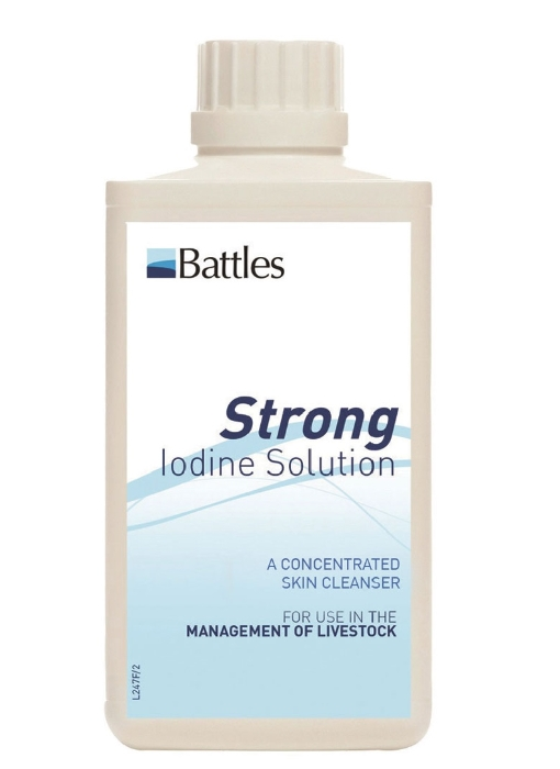 An image of Battles 7% Strong Iodine Solution 500ml