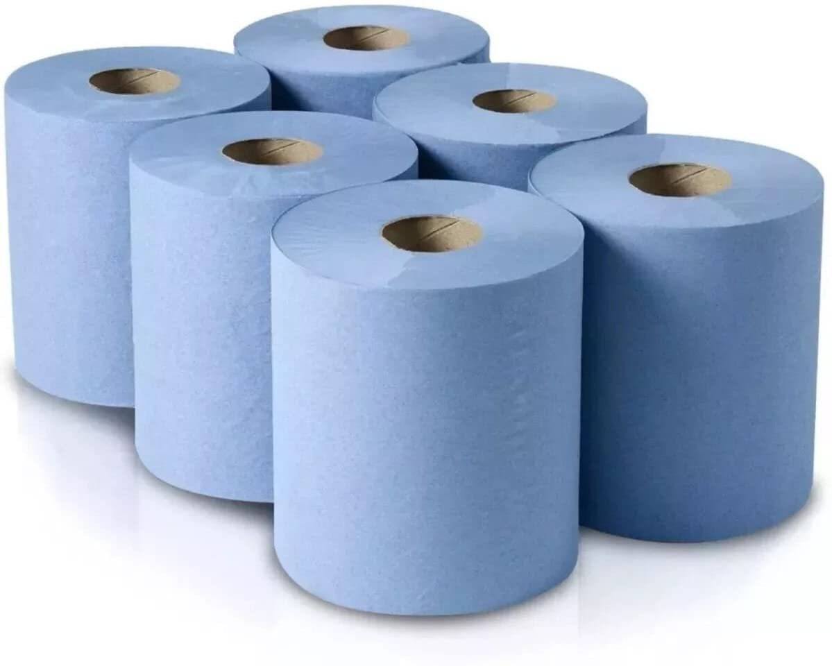 An image of Blue Centrefeed Rolls (6)