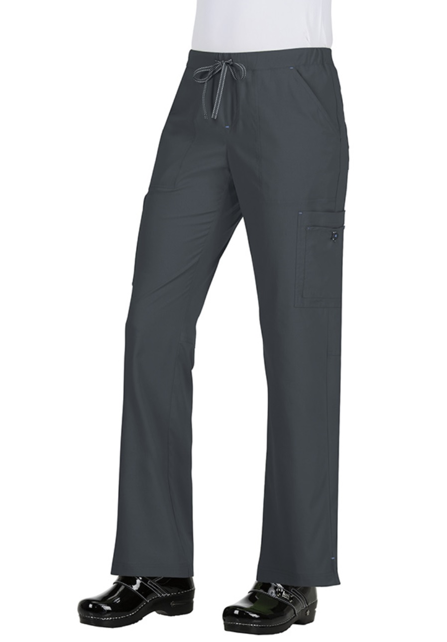 An image of Koi holly trousers Charcoal XS (reg)