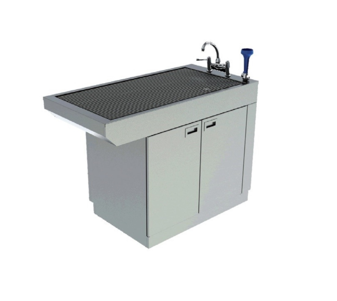 An image of Slimline Tub Table With Cupboard