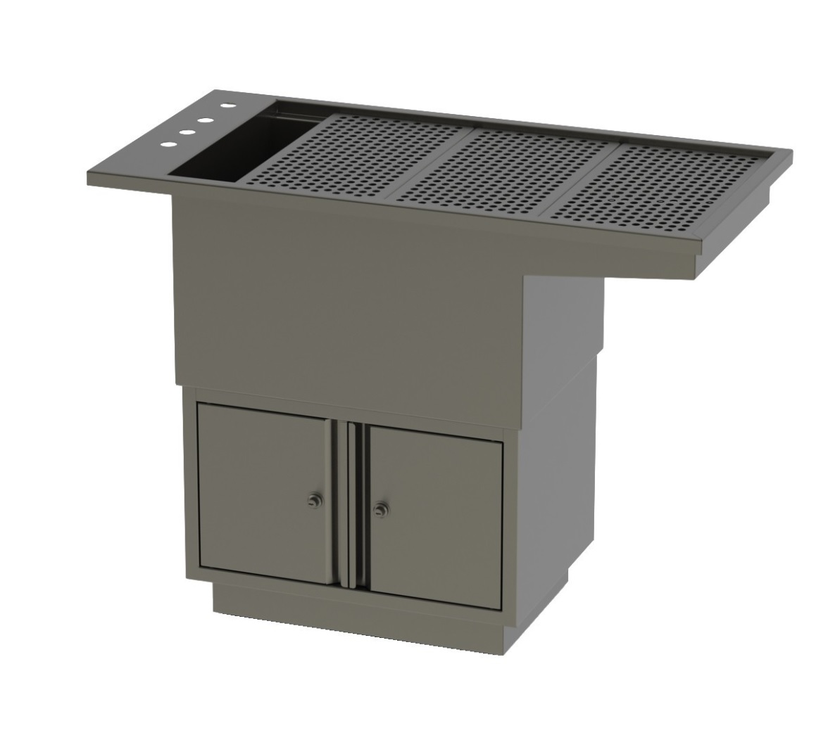 An image of Tub Table W/Under Cupboard & Knee space