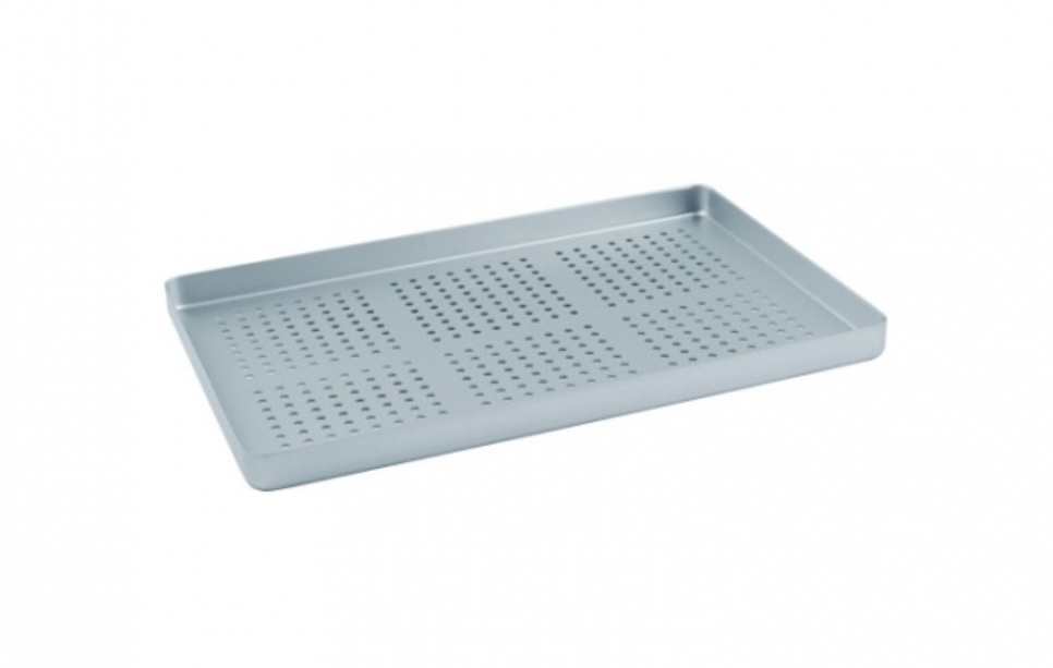 An image of Aluminium Instrument Tray Perforated Base 28x18cm