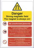An image of Self Adhesive Magnetic Field Warning Sign