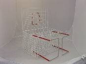 An image of Cage with Crush & Bottom Sliding Floor 46x30x30cm *1