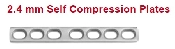An image of 2.4 mm Self Compression Plates