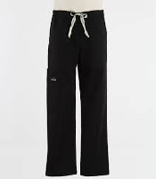 An image of DRAWSTRING BOOT CUT PANTS NAVY SIZE XSMALL