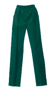 An image of LADIES TROUSER GREEN SIZE 36 LONG