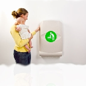 An image of Magrini Vertical Baby Changing Unit