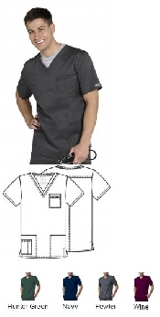 An image of Unisex V-Neck Scrub Top
