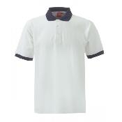 An image of XSS2 Unisex Poloshirt W/N Block ISCP logo ( XS) (ISCP013XS)