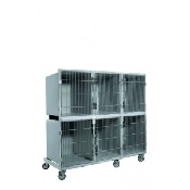 An image of Kennels 3 Top + 3 Bottom with dividers only