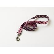 An image of Dog Leads - Pink/Black Polka Dot